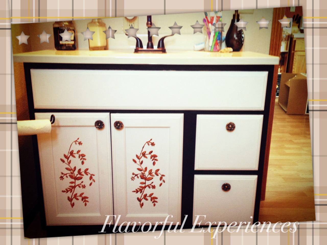 Cheap Bathroom Vanity Makeover | Flavorful Experiences